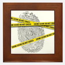 CRIME SCENE! Framed Tile