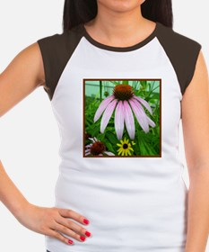 Lone Pink Coneflower Women's Cap Sleeve T-Shirt