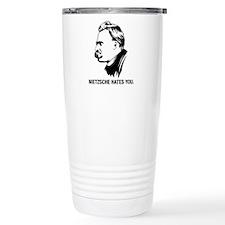 Nietzsche Hates You. Travel Mug