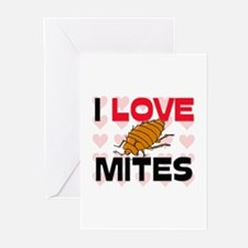 I Love Mites Greeting Cards (Pk of 10)