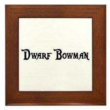 Dwarf Bowman Framed Tile