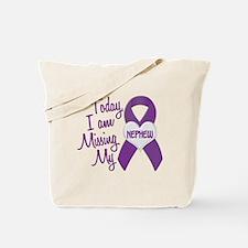 Missing My Nephew 1 PURPLE Tote Bag