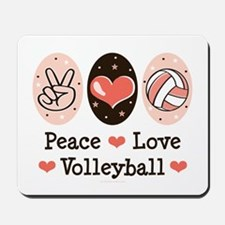 Peace Love Volleyball Mousepad