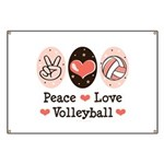 Peace Love Volleyball Banner