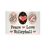 Peace Love Volleyball Rectangle Magnet (10 pack)