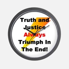 Heroic Truth and Justice Patr Wall Clock