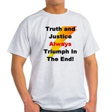 Heroic Truth and Justice Patr T-Shirt