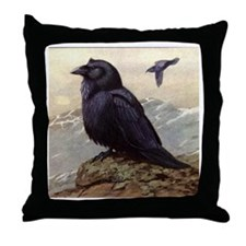 RAVEN Crow ART Throw Pillow