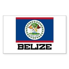 Belize Flag Rectangle Decal