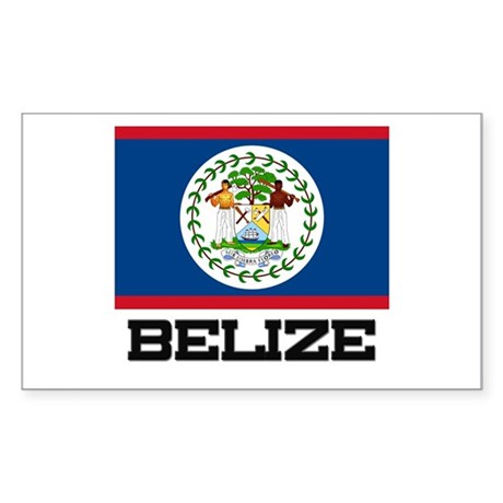 Belize Flag Rectangle Sticker