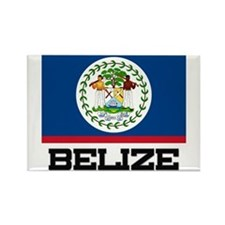 Belize Flag Rectangle Magnet