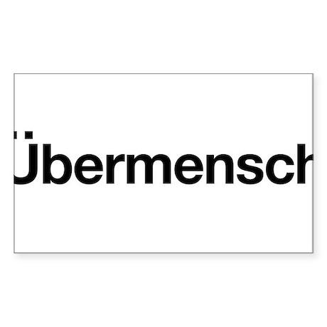 ubermensch Rectangle Sticker