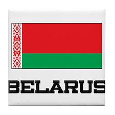 Belarus Flag Tile Coaster