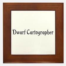 Dwarf Cartographer Framed Tile