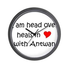Unique I heart antwan Wall Clock