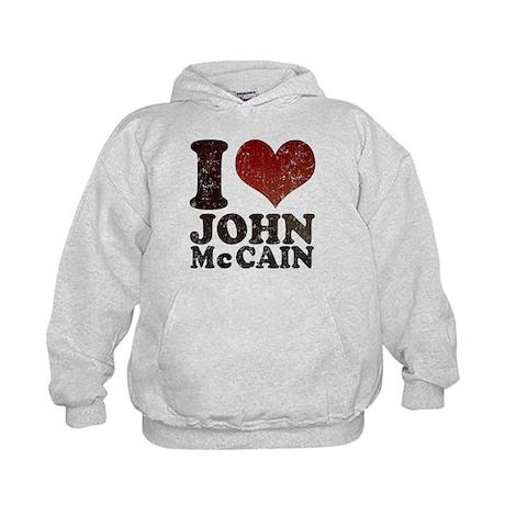 I love John McCain Kids Hoodie