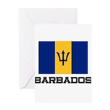 Barbados Flag Greeting Card