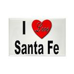 I Love Santa Fe Rectangle Magnet (10 pack)