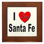 I Love Santa Fe Framed Tile