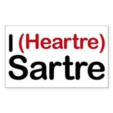 I Heartre Sartre Rectangle Decal