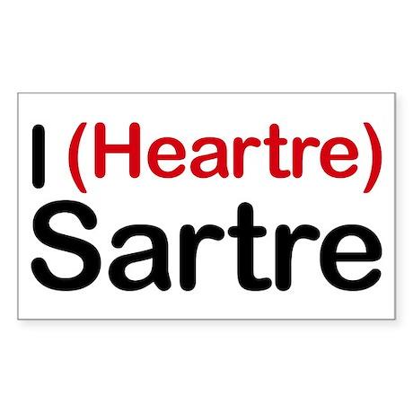 I Heartre Sartre Rectangle Sticker