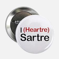 """I Heartre Sartre 2.25"""" Button"""