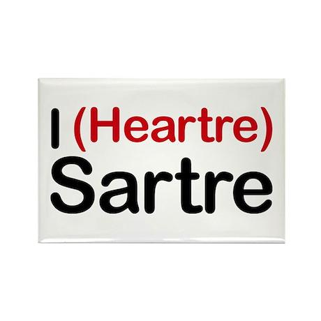 I Heartre Sartre Rectangle Magnet