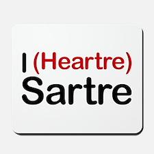 I Heartre Sartre Mousepad