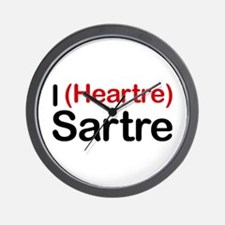 I Heartre Sartre Wall Clock