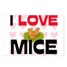 I Love Mice Postcards (Package of 8)