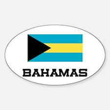 Bahamas Flag Oval Stickers