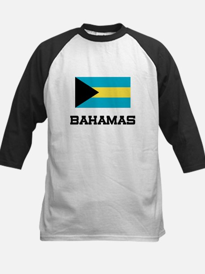 Bahamas Flag Kids Baseball Jersey