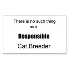 No Such Thing-Cat! Rectangle Sticker 10 pk)