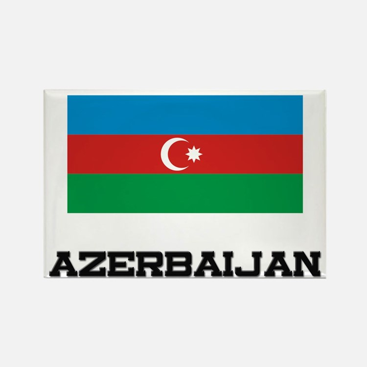 Azerbaijan Flag Rectangle Magnet