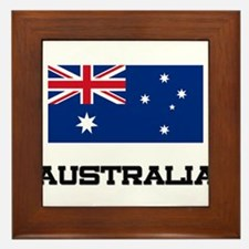 Australia Flag Framed Tile