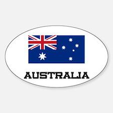 Australia Flag Oval Stickers