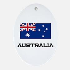 Australia Flag Oval Ornament