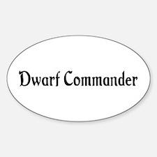 Dwarf Commander Oval Decal