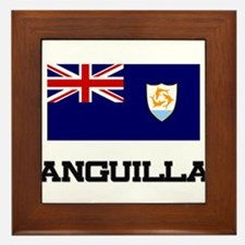 Anguilla Flag Framed Tile