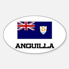 Anguilla Flag Oval Decal