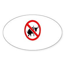 """No Bullshit"" Oval Decal"