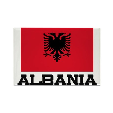 Albania Flag Rectangle Magnet