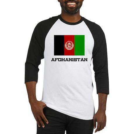 Afghanistan Flag Baseball Jersey