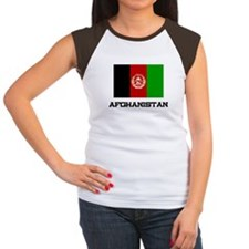 Afghanistan Flag Women's Cap Sleeve T-Shirt