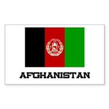 Afghanistan Flag Rectangle Decal