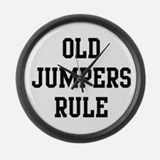 Old Jumpers Rule Large Wall Clock