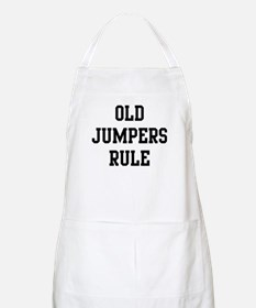 Old Jumpers Rule BBQ Apron