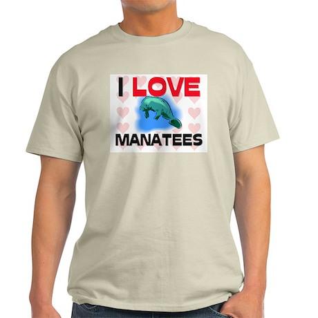 I Love Manatees Light T-Shirt