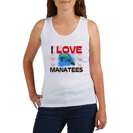 I Love Manatees Women's Tank Top
