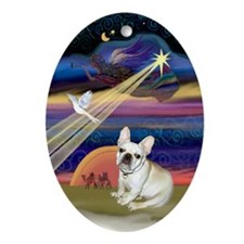 Christmas Star & French Bulldog Keepsake (Oval)